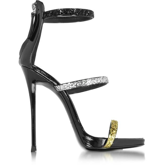 Black Glitter Sandal - Giuseppe Zanotti