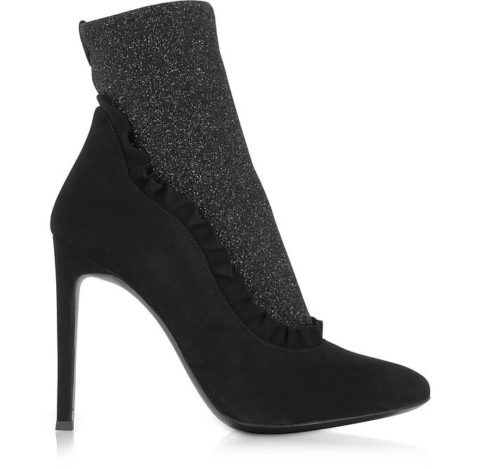 Chaussures De Marque, Tissu Zanotti Giuseppe Stretch Paillettes Bottillons À Talons