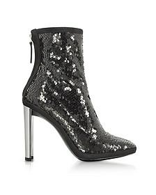 Luce Black Knöchel-Bootie mit High-Heel in schwarz mit Pailletten - Giuseppe Zanotti