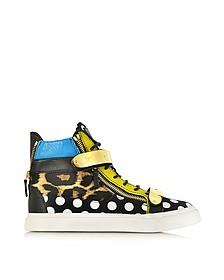 Mix-N-Match Leopard and Polka-Dot High-Top Sneaker