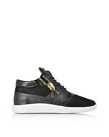 Black Suede and Leather Men's Sneaker  - Giuseppe Zanotti