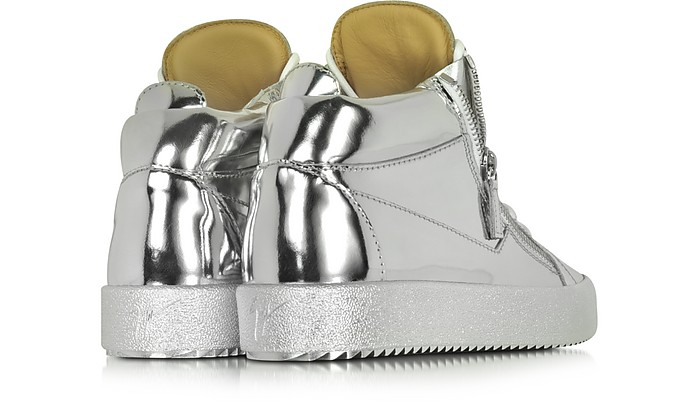 5fbb91a94d24c Vegas Shooting Silver Metallic Patent Leather High Top Sneaker - Giuseppe  Zanotti. $415.00 $830.00 Actual transaction amount