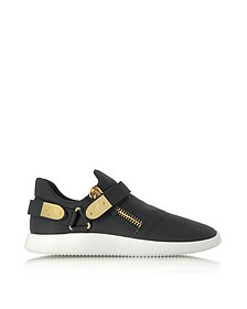 Black Gommato Leather Low Top Men's Sneakers - Giuseppe Zanotti