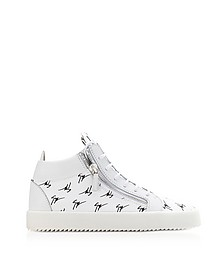 White Leather Mid-Top The Signature Men's Sneakers - Giuseppe Zanotti