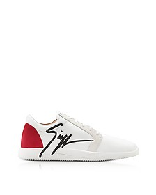 G Runner Red and White Low Top Men's Sneakers - Giuseppe Zanotti