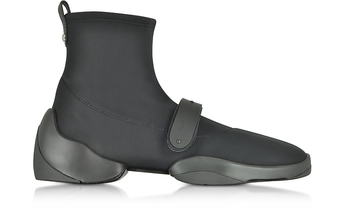 Light Jump HT2 Black Nylon High Top Sock Sneakers - Giuseppe Zanotti