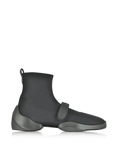 Light Jump HT2 Black Nylon High Top Sock Sneakers - Giuseppe Zanotti