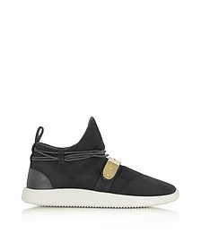Black Suede Mid-Top Men's Sneakers - Giuseppe Zanotti