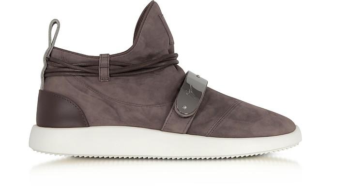 c5390547b4168 Giuseppe Zanotti Brown Suede Mid-Top Men's Sneakers 43 (10 US | 9 UK ...