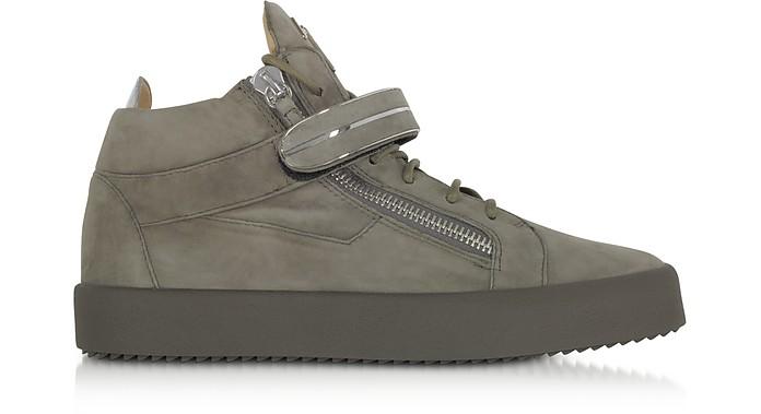 Khaki Suede High Top Men's Sneakers - Giuseppe Zanotti