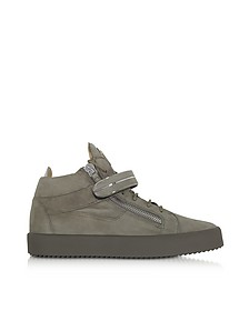 Khaki Suede High Top Men's Sneakers - Giuseppe Zanotti