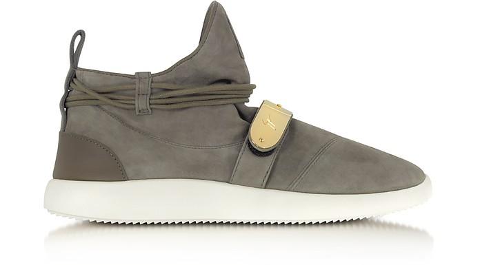 Khaki Suede Mid-Top Men's Sneakers - Giuseppe Zanotti