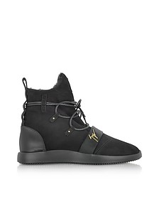 Black Suede High Top Sneakers  - Giuseppe Zanotti