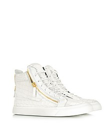 High-top Croco Patent Leather Sneaker