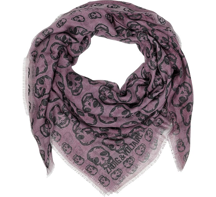 Kerry Skull Two Tone Modal Printed Wrap - Zadig & Voltaire
