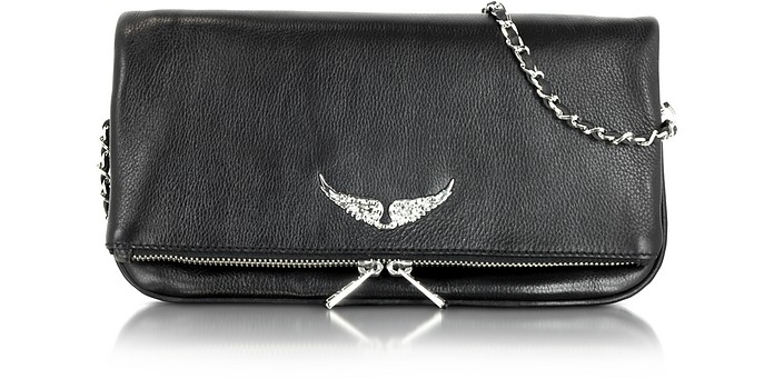Rock Black Leather Clutch - Zadig & Voltaire
