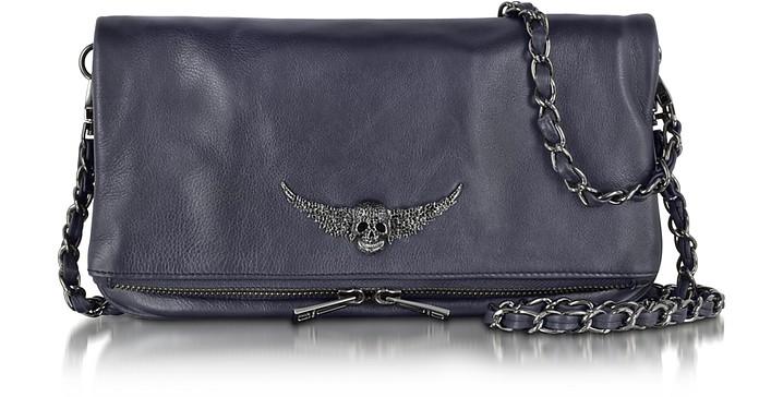 Midnight Blue Rock Leather Shoulder Bag - Zadig & Voltaire