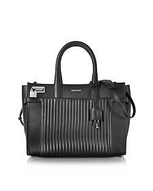 Black Leather Candide Medium Tote  - Zadig & Voltaire