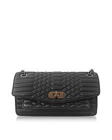 Black Quilted Leather Skinny Love Mat Shoulder Bag - Zadig & Voltaire