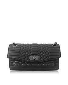 Black Quilted Leather Skinny Love Mat Shoulder Bag - Zadig & Voltaire