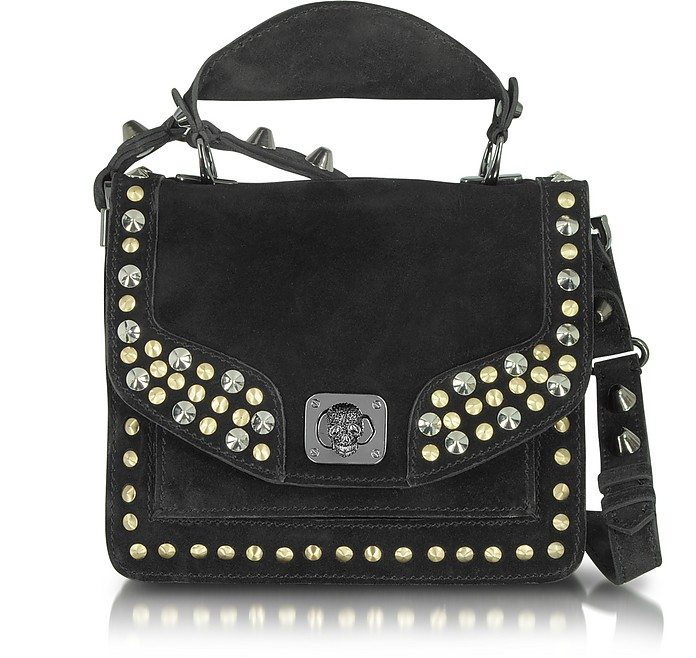 Shala Clous Deluxe - Small Studded Suede Shoulder Bag - Zadig & Voltaire