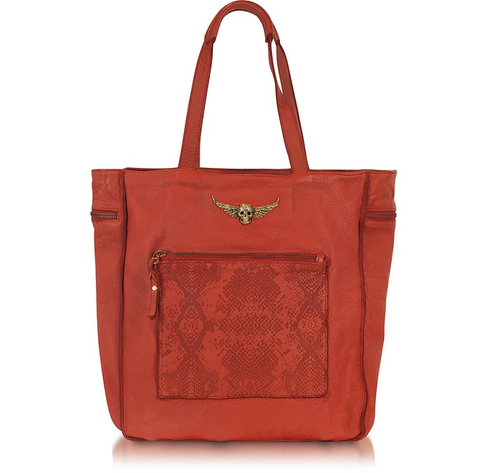 Large Embossed Leather Bis Tote - Zadig & Voltaire
