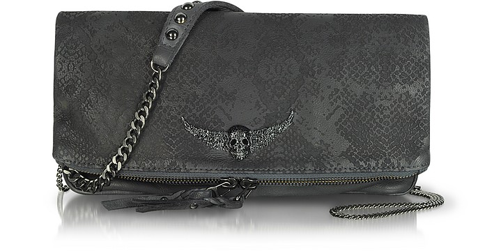 Embossed Leather Rock Clutch - Zadig & Voltaire