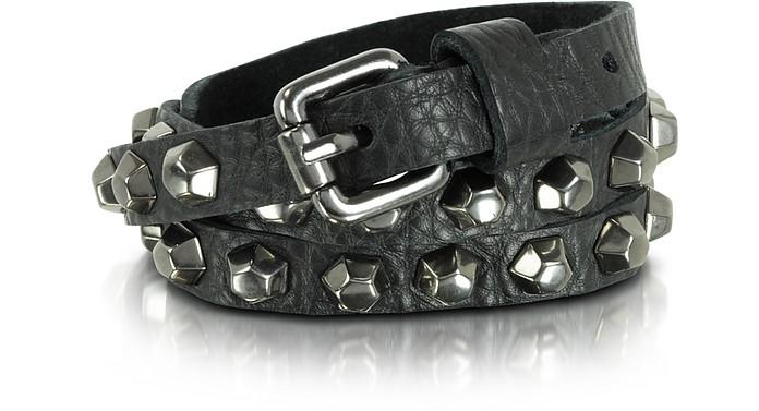 Jessy Boulons - Black Leather Studded Belt - Zadig & Voltaire