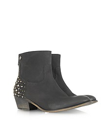 Teddy Clous Multico Black Leather Boot