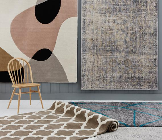 Contemporary large statement rugs.