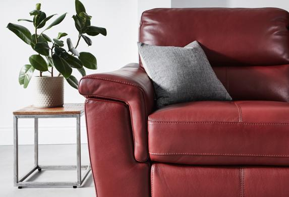 World of Leather Aneto two seater leather sofa.