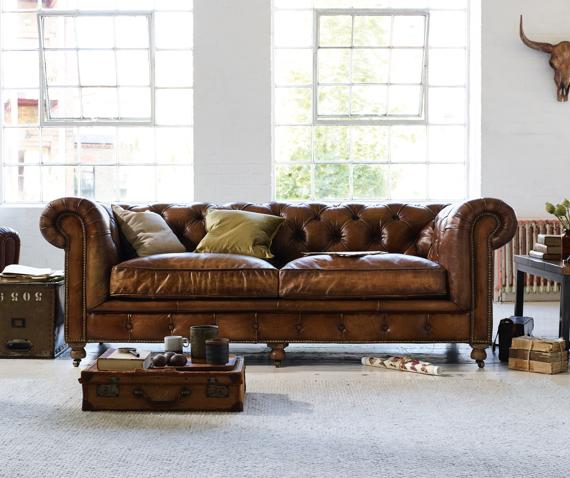 Halo Kingston Mews leather sofa