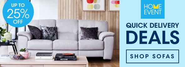 Quick delivery deals sofas
