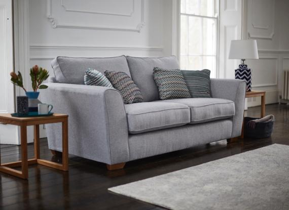 Contemporary silver grey sofa bed