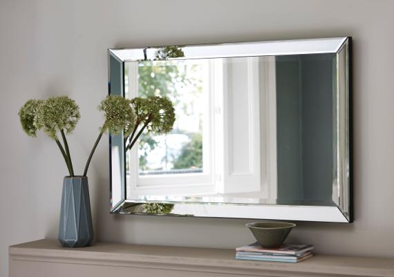 Large rectangular mirror
