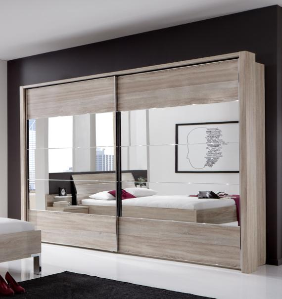 Men's bedroom ideas – modern sliding door wardrobe