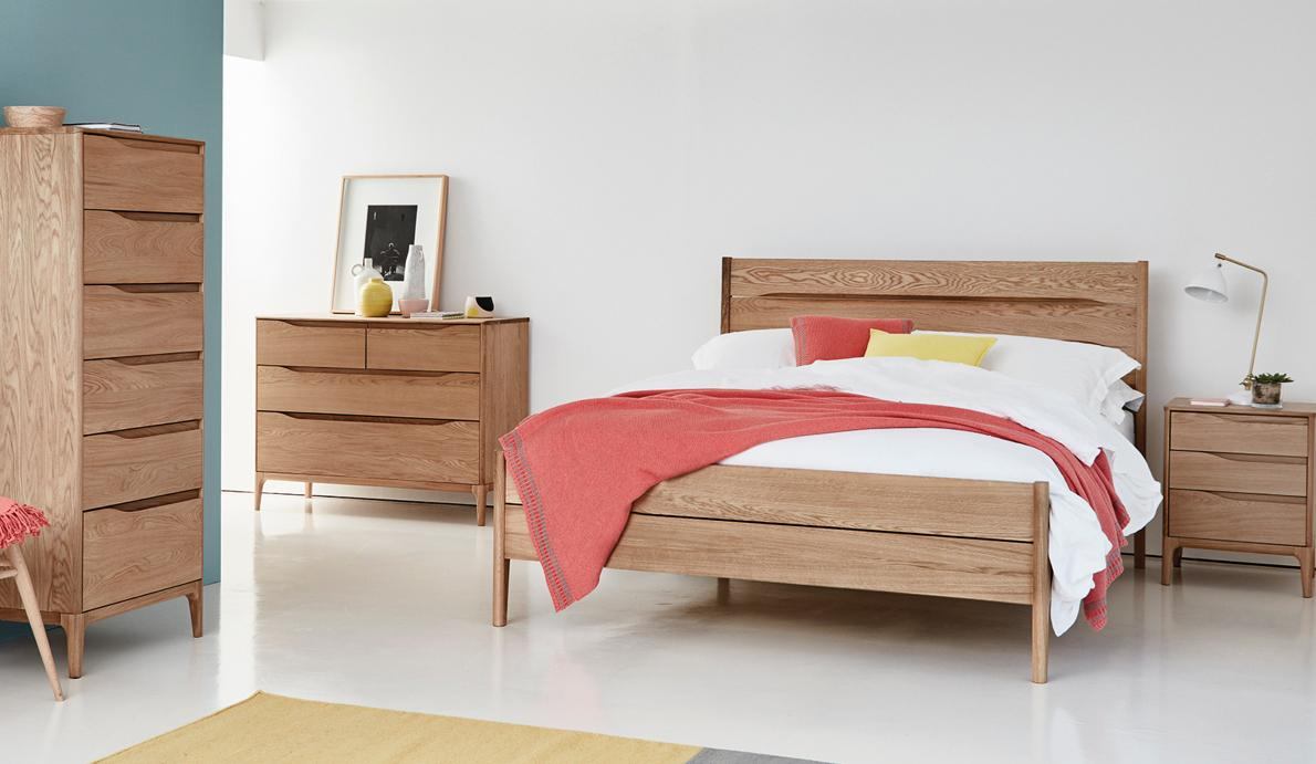 Small bedroom ideas – Ercol tall chest of drawers