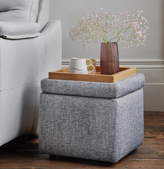 Small bedroom storage ideas – storage footstool.