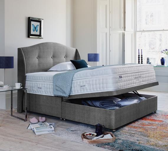Small bedroom storage ideas – ottoman bed.