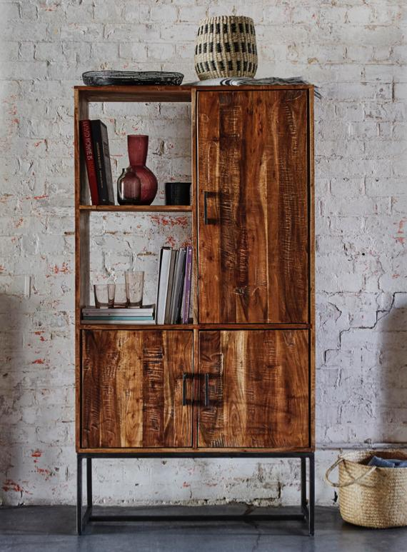 Spare room ideas – wooden display unit