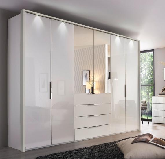 White bedroom ideas – semi fitted wardrobes