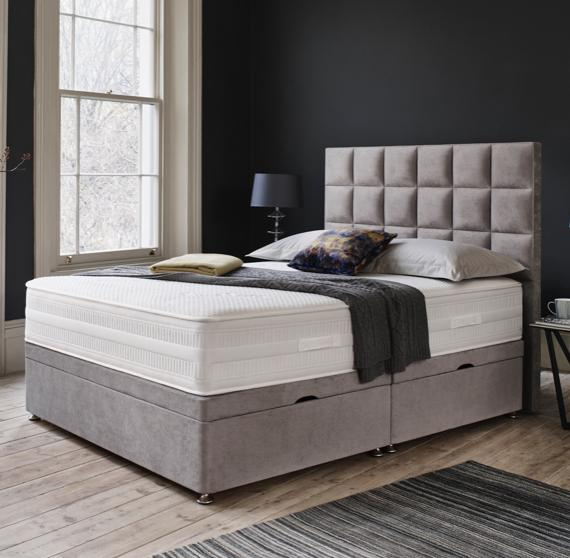 Black bedroom ideas – memory foam sprung mattress
