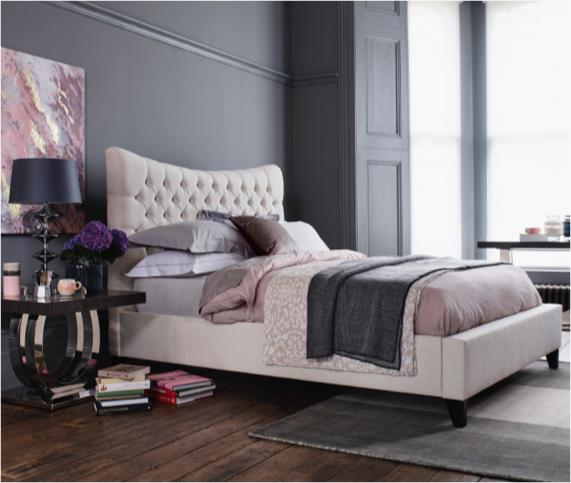 Luxury bedroom ideas – buttoned bed frame