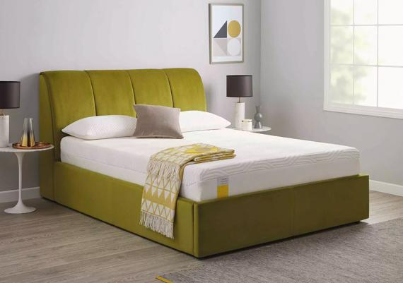 Green bedroom ideas – ottoman bed frame
