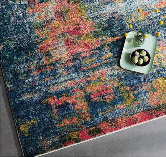 Living dining room – multi-colour rug Celesta Rug