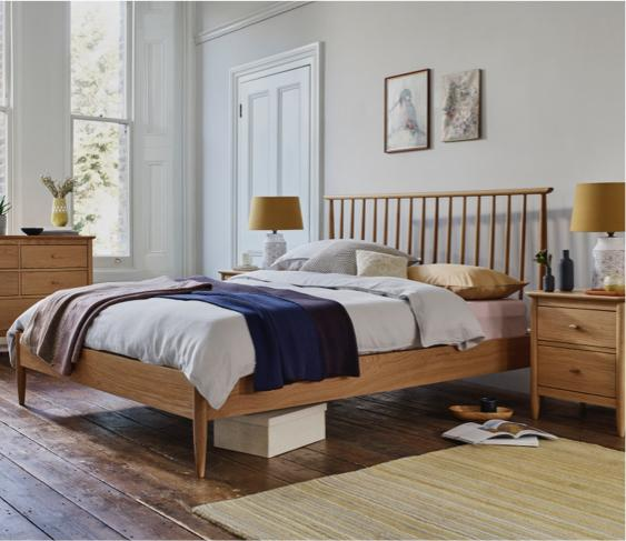 Small bedroom – Ercol wooden bed frame