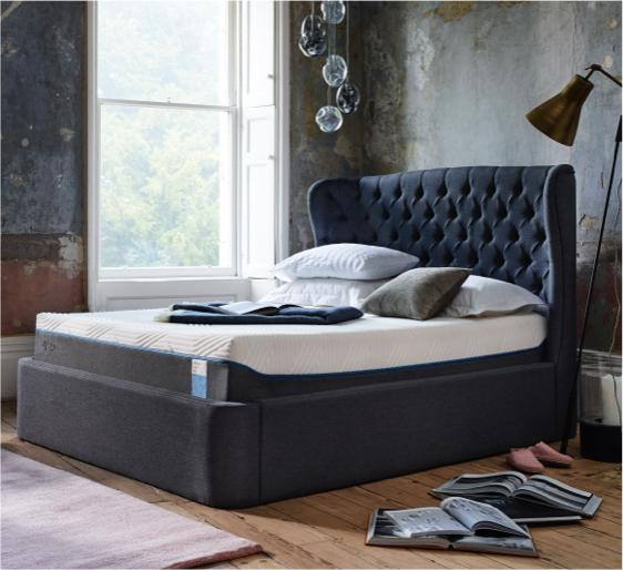 Small bedroom ideas Tempur ottoman bed