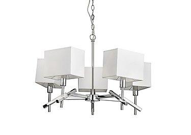 Acute Chrome 5 Light Pendant in  on Furniture Village