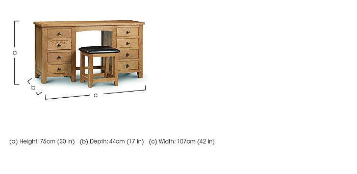 Addison Twin Pedestal Dressing Table in  on Furniture Village
