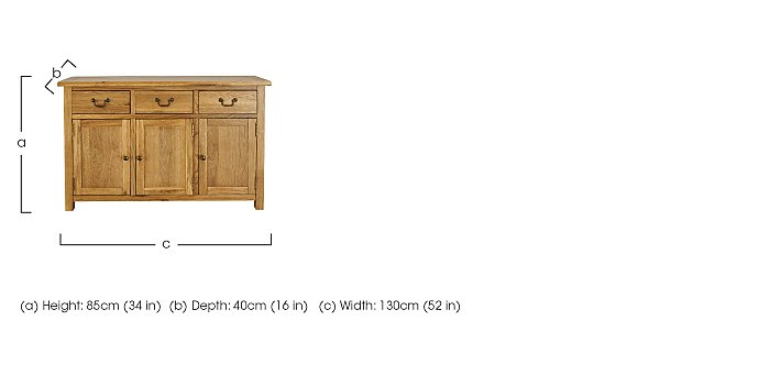 Arlington Large Sideboard in  on Furniture Village